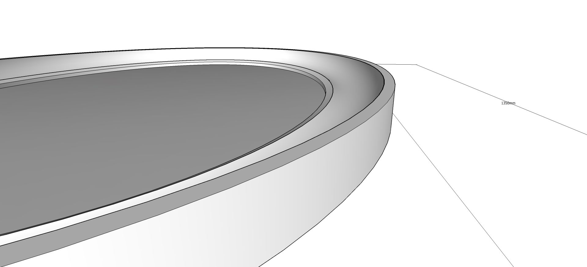 Concave Oval Mirror Angle