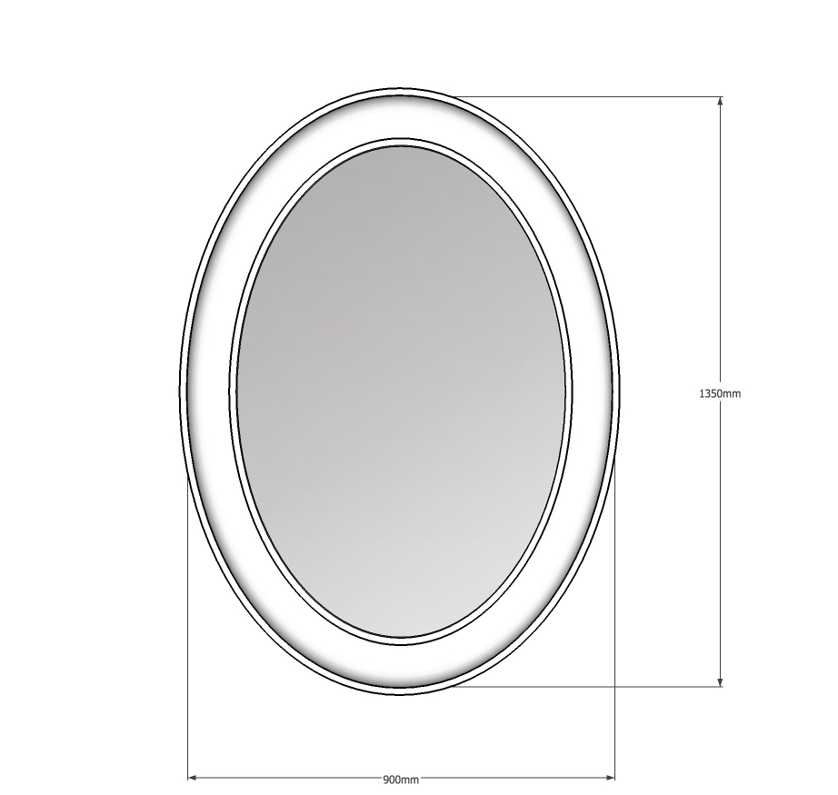 Concave Oval mirror
