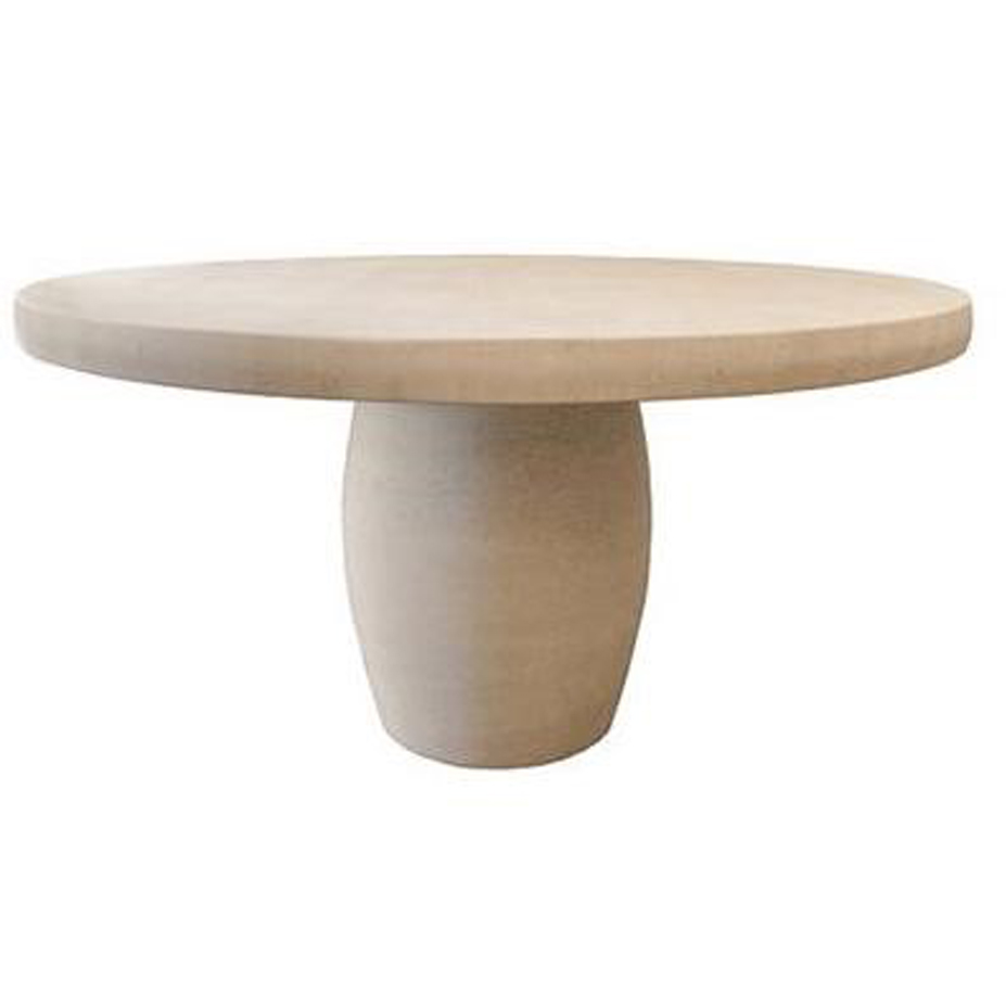 NEW  Stone Barrel Base Table