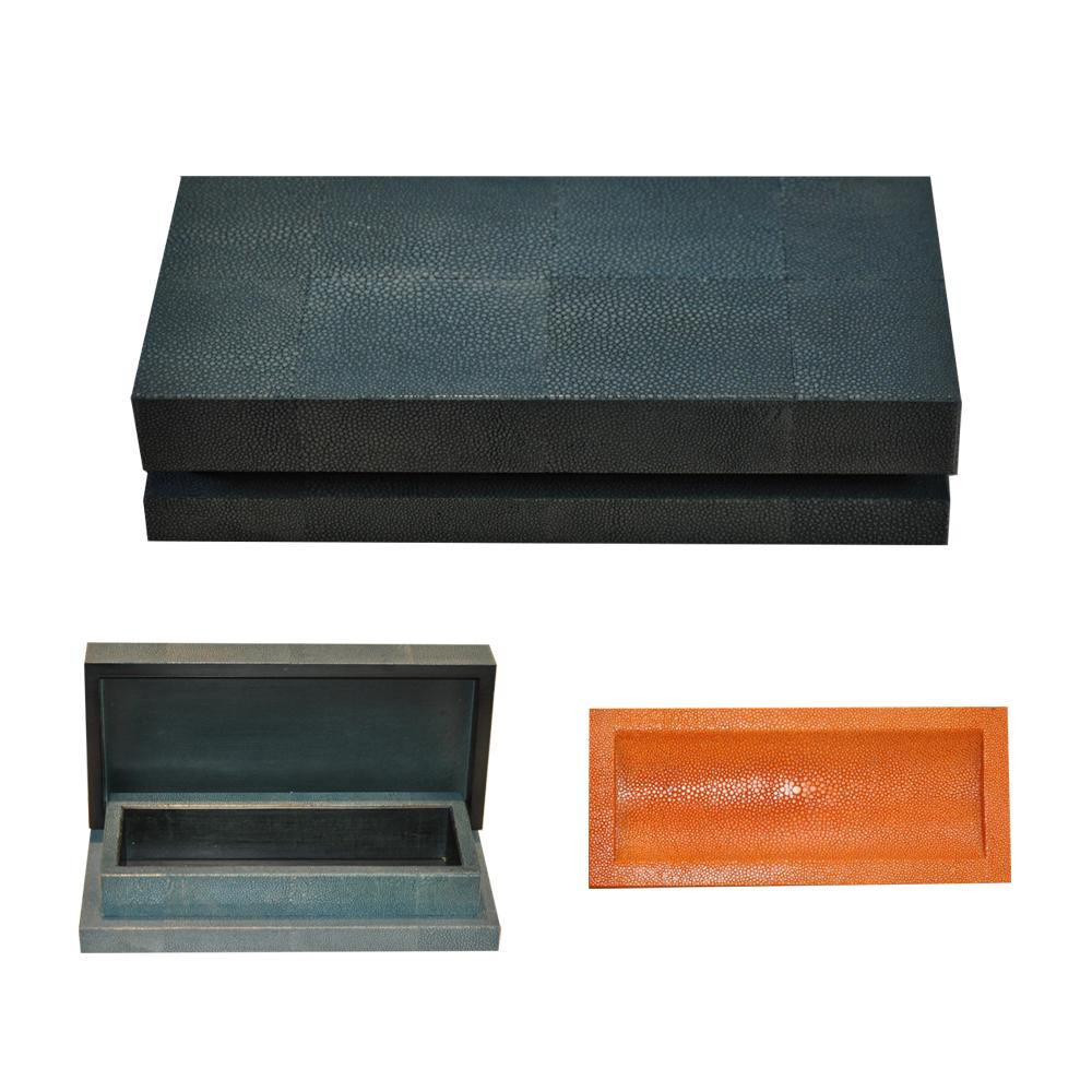 SALE Turquoise Shagreen Box